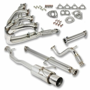 DNA 90-93 Honda Accord F22 2.2L Stainless Steel Catback Exhaust + Racing Test Pipe + Race Header