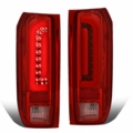 90-96 Ford F150 F250 BRONCO 3D Optic-Style LED Tail Lights - Red