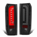 90-96 Ford F150 F250 BRONCO 3D Optic-Style LED Tail Lights - Smoked