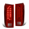 90-96 Ford F150 F250 BRONCO LED Tail Lights - Red