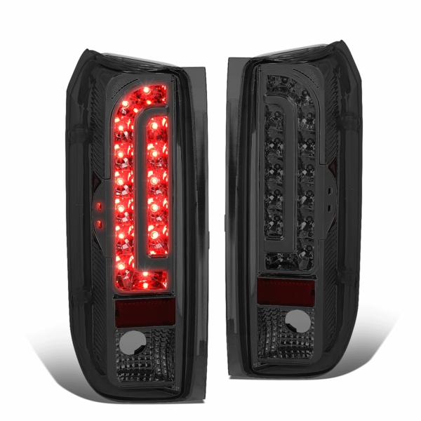 90-96 Ford F150 F250 BRONCO LED Tail Lights - Smoked