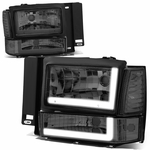 91-94 Ford Explorer LED DRL Headlight Bumper Corner Lamp Replacement - Smoked