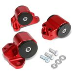 92-95 Honda / 94-01 Acura B and D-Series MT Hydro Trans Motor Engine Mount Kit (Red) - EH EJ EG DB DC