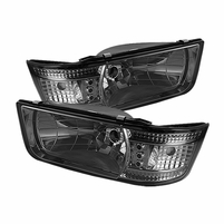 92-96 Ford Bronco / F150 F250 F350 1-Piece LED Crystal Headlights - Smoked