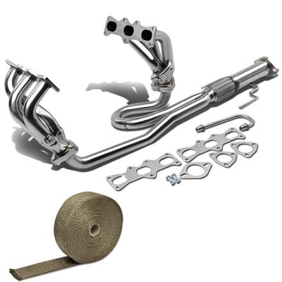 93-97 Ford Probe / Mazda Mx6 Mx-6 6-2-1 Stainless Racing Manifold Header Exhaust + Heat Wrap