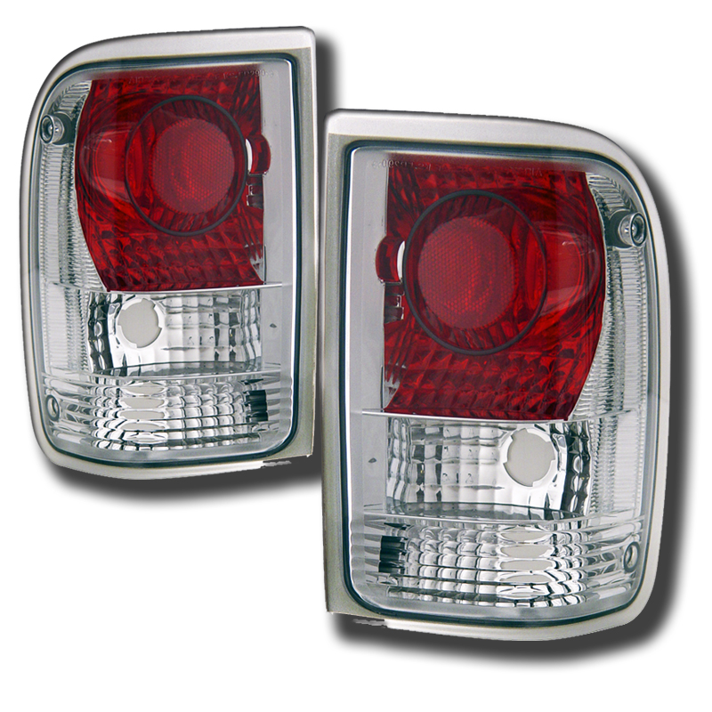 93 97 Ford Ranger Euro Altezza Tail Lights Chrome Click To Enlarge