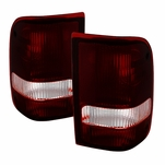 93-97 Ford Ranger OEM Style Replacement Tail Lights Pair - Smoked