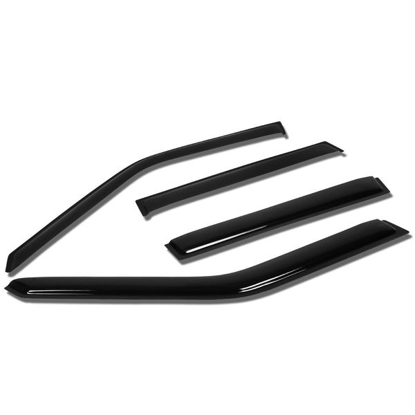 93-97 Volvo 850 4pcs Window Vent Visor Deflector Rain Guard (Dark Smoke)
