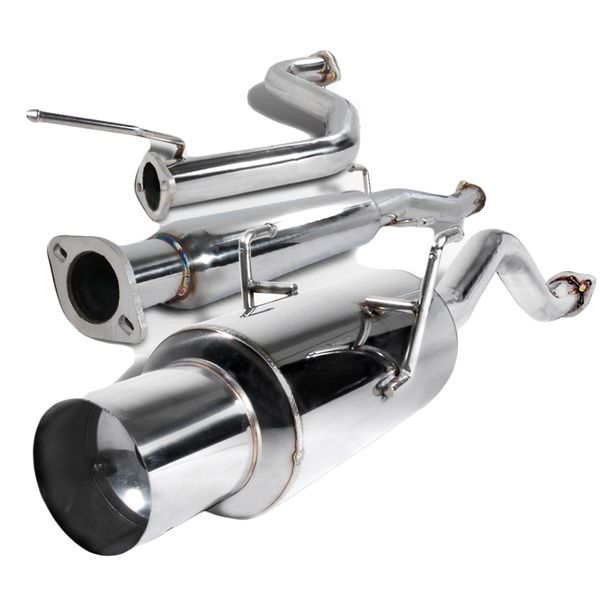 94-01 Acura Integra Gs / Ls / Rs 2.5-inch Polished Ss Catback Exhaust System