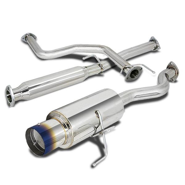 94-01 Acura Integra Rs / Ls / Gs Stainless Steel Catback Exhaust - Burnt Tip