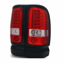 94-01 Dodge Ram 1500 / 2500 / 3500 Altezza LED Tail Lights - Red / Clear