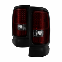 94-01 Dodge Ram 1500 / 2500 / 3500 Euro Style Altezza LED Tail Lights - Red / Smoked ALT-ON-DRAM94-LED-RS By Spyder