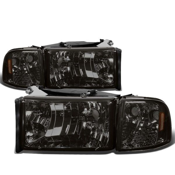 94-01 Dodge RAM 1500 2500 3500 OEM Style Crystal Headlights - Smoked