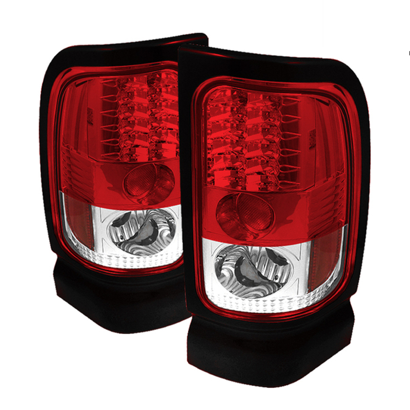 94 01 Dodge Ram Pickup Led Tail Lights Red Clear