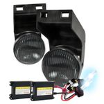HID Xenon + 94-01 Dodge RAM Pickup OEM Style Fog Lights Kit - Smoked