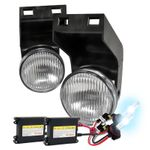 HID Xenon + 94-01 Dodge RAM Pickup OEM Style Fog Lights Kit - Clear