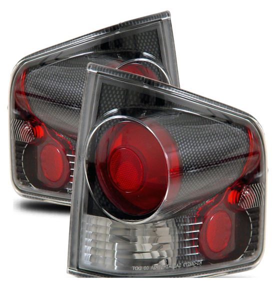 94-04 Chevy S10 Pickup Euro Altezza Tail Lights - Carbon Fiber