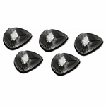 94-98 Dodge Ram 1500 / 2500 / 3500 BR 5 X LED Cab Roof Top Lights (Black Housing Amber Lens)
