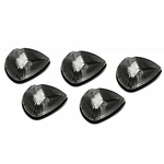 94-98 Dodge Ram 1500 / 2500 / 3500 BR 5 X LED Cab Roof Top Lights (Black Housing White Lens)