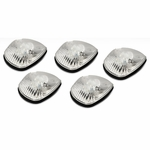 94-98 Dodge Ram 1500 / 2500 / 3500 BR 5 X LED Cab Roof Top Lights (Chrome Housing Amber Lens)