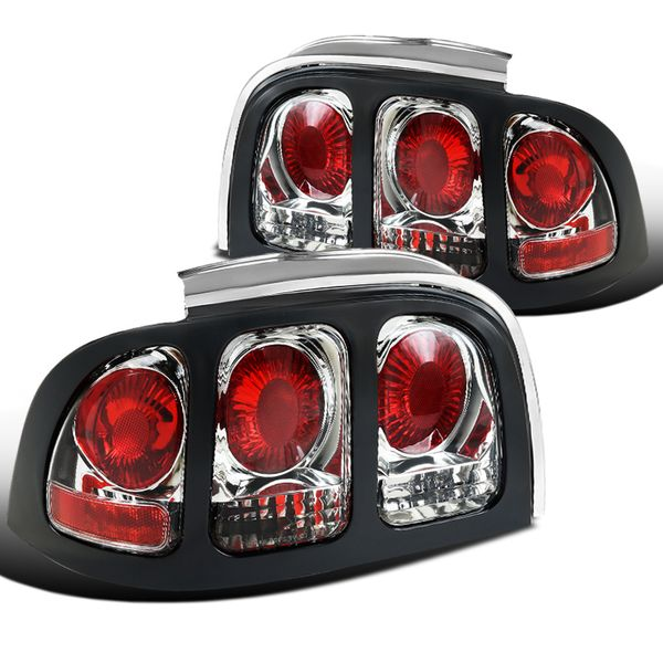 94-98 Ford Mustang Clear Lens Rear Tail Lights