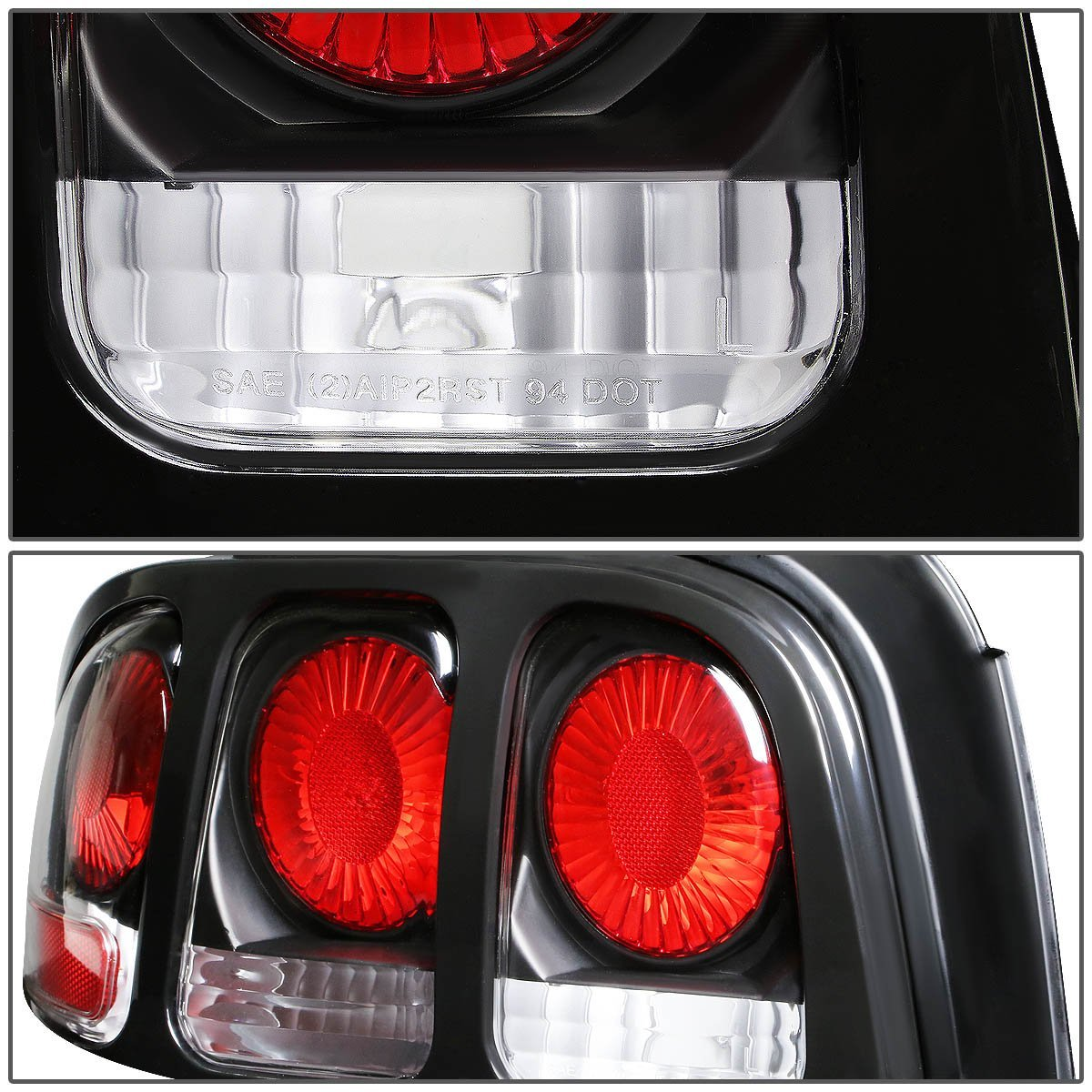 94 98 Ford Mustang Replace Altezza Tail Lights Black