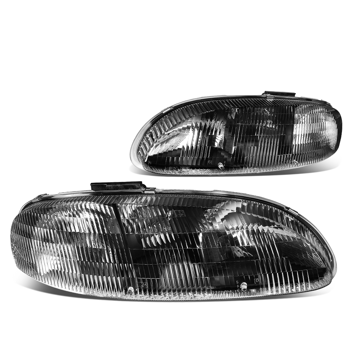 95 01 Chevy Lumina 99 Monte Carlo Headlight Embly Driver Penger Side Black