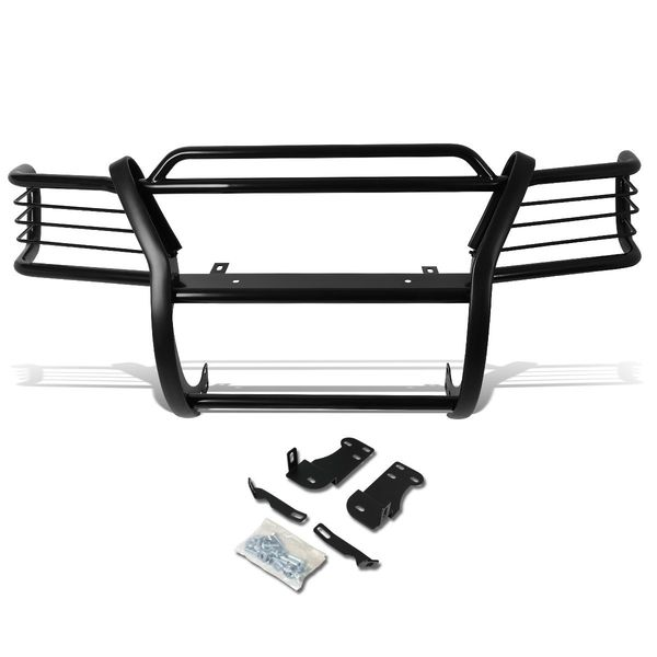95-01 Ford Explorer / 97-01 Mercury Mountaineer Front Bumper Protector Brush Grille Guard (Black)