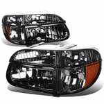 95-01 Ford Explorer Euro Crystal Headlights Combo - Smoked