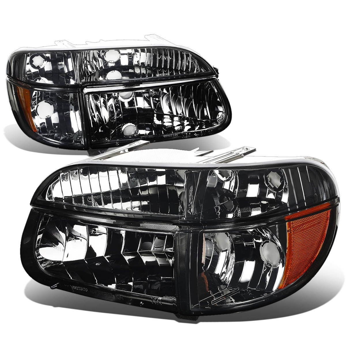 95 01 Ford Explorer Euro Crystal Headlights Combo Smoked Click To Enlarge
