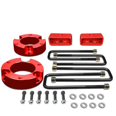 """95-04 Toyota Tacoma 2WD 4WD Red 3""""Front+2""""Rear Spacers+Blocks Leveling Lift Kit"""