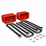 """95-18 Toyota Tacoma 2WD 4WD Red 3"""" Rear Blocks Suspension Leveling Lift Kit"""