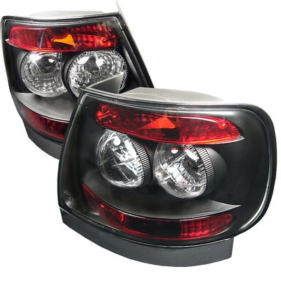 96-01 Audi A4 / S4 4DR Sedan Euro Style Altezza Tail Lights - Black ALT-YD-AA496-BK By Spyder