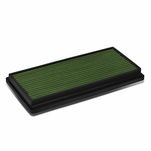 96-01 Jeep Cherokee XJ Reusable & Washable Replacement High Flow Drop-in Air Filter (Green)