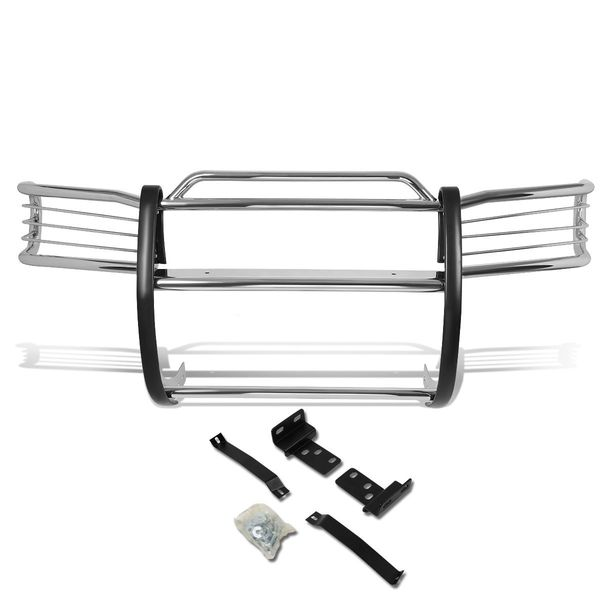 96-04 Nissan Pathfinder R50 Front Bumper Protector Brush Grille Guard (Chrome)