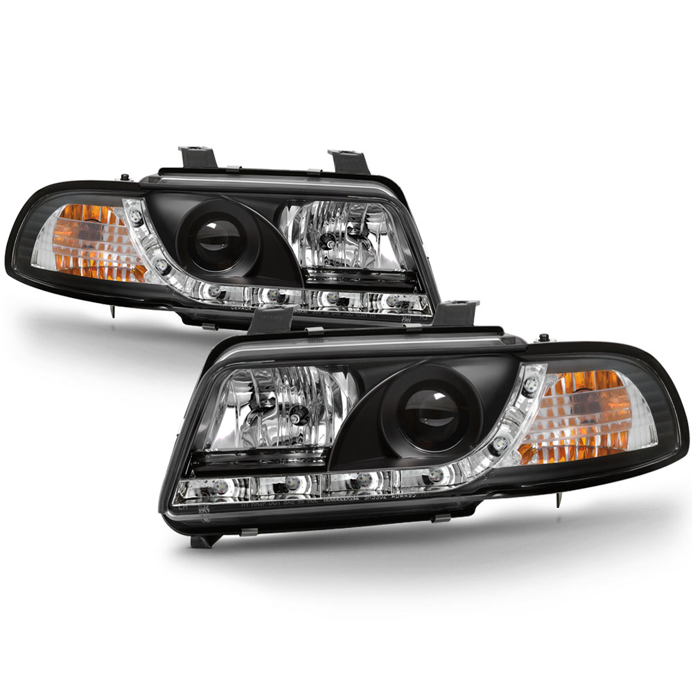 96 99 Audi A4 DRL LED Euro Projector Headlights
