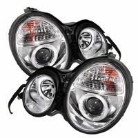 96-99 Mercedes Benz W210 E-Class Dual Halo Projector Headlights - Chrome