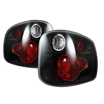 97-00 Ford F150 Flareside Flare Side Altezza Tail Lights - Black