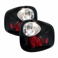 97-99 Ford F-150 F150 Flareside Altezza Tail Lights Black