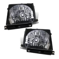 97-00 Toyota Tacoma [Non 97 4WD] Crystal Replace Headights - Black