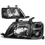 97-01 Honda CRV Headlight Assembly (Driver & Passenger Side) - Black Clear