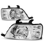 97-01 Honda CRV Headlight Assembly (Driver & Passenger Side) - Chrome Clear