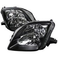 97-01 Honda Prelude Black Housing Headlights Clear Lens