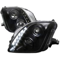 97-01 Honda Prelude Black Housing LED DRL Strip Projector Headlights