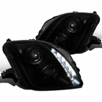 97-01 Honda Prelude Black Smoke LED DRL Strip Projector Headlights
