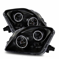 CG 97-01 Honda Prelude Dual Halo / LED Projector Headlights - Black (CCFL Halo Optional)