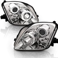 CG 97-01 Honda Prelude Dual Halo / LED Projector Headlights - Chrome (CCFL Halo Optional)
