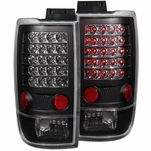 97-02 Ford Expedition Euro Style LED Tail Lights - Black