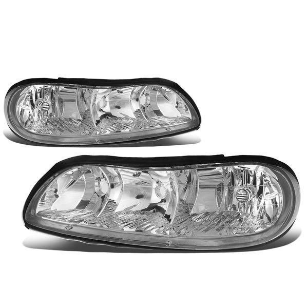 97-03 Chevy Malibu / Oldsmobile Cutlass Factory Style Replacement Headlights Chrome