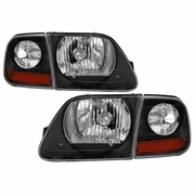 97-03 Ford F-150 / Expedition 4pcs OE-Style Headlights - Black|Pair